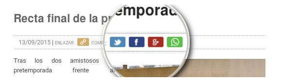 Cómo compartir contenido de esta web