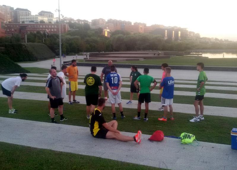 Imagen del primer entrenamiento de la temporada